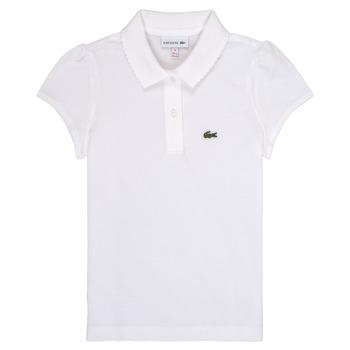 Textil Dívčí Polo s krátkými rukávy Lacoste CAYDEN Bílá