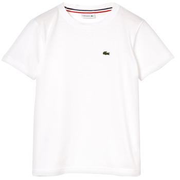 Textil Chlapecké Trička s krátkým rukávem Lacoste NAE Bílá