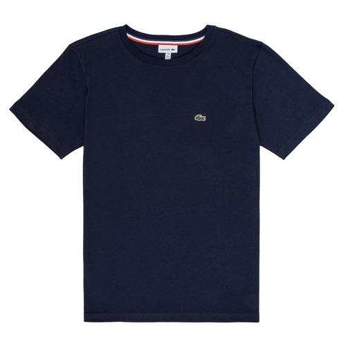Textil Chlapecké Trička s krátkým rukávem Lacoste JOSEPHE Tmavě modrá