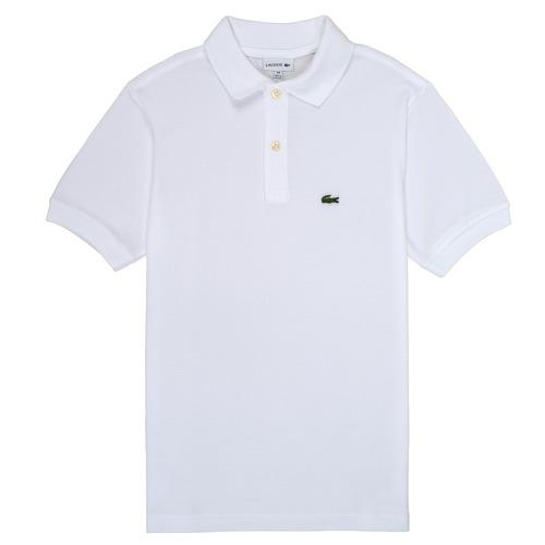 Textil Chlapecké Polo s krátkými rukávy Lacoste MARISE Bílá