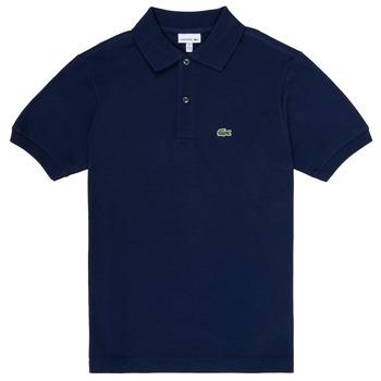 Textil Chlapecké Polo s krátkými rukávy Lacoste CYRINNE Tmavě modrá