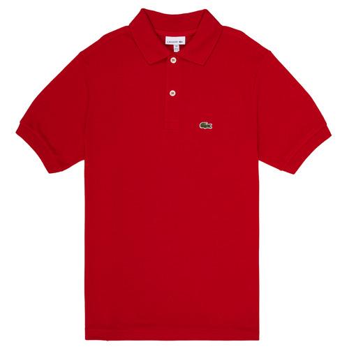 Textil Chlapecké Polo s krátkými rukávy Lacoste LOLLA Červená