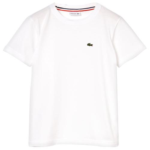 Textil Chlapecké Trička s krátkým rukávem Lacoste APAULINE Bílá