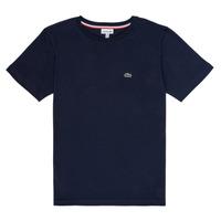 Textil Chlapecké Trička s krátkým rukávem Lacoste JUSTYNE Tmavě modrá