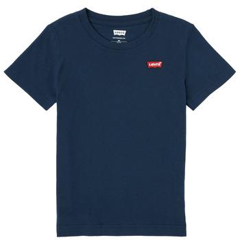 Textil Chlapecké Trička s krátkým rukávem Levi's BATWING CHEST HIT Tmavě modrá