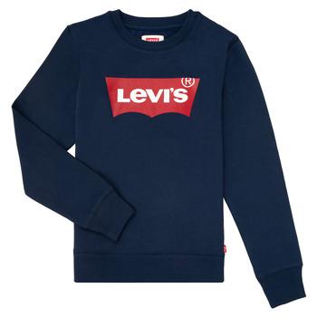 Textil Chlapecké Mikiny Levi's BATWING CREWNECK Tmavě modrá