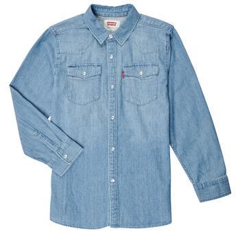Textil Chlapecké Košile s dlouhymi rukávy Levi's BARSTOW WESTERN SHIRT Modrá