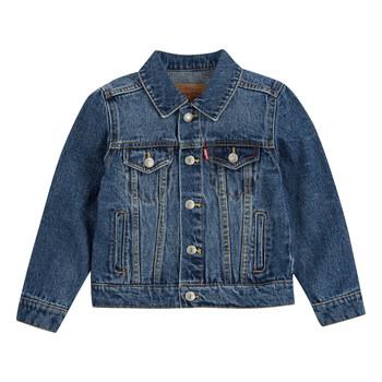 Textil Chlapecké Riflové bundy Levi's TRUCKER JACKET Modrá
