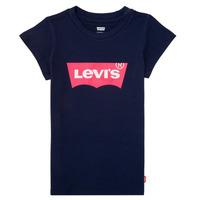 Textil Dívčí Trička s krátkým rukávem Levi's BATWING TEE Tmavě modrá
