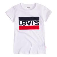 Textil Dívčí Trička s krátkým rukávem Levi's SPORTSWEAR LOGO TEE Bílá