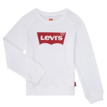 Textil Dívčí Mikiny Levi's KEY ITEM LOGO CREW Bílá