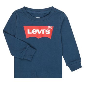 Textil Chlapecké Trička s dlouhými rukávy Levi's BATWING TEE LS Tmavě modrá