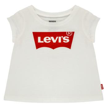 Textil Dívčí Trička s krátkým rukávem Levi's BATWING TEE Bílá