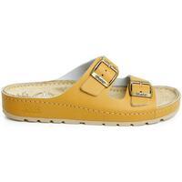 Boty Ženy Sandály Batz Dámske kožené hnedé šľapky ZENNA ťavia