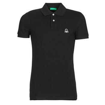 Textil Muži Polo s krátkými rukávy Benetton MARNELLI Černá