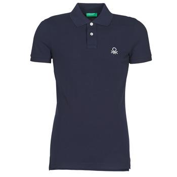 Textil Muži Polo s krátkými rukávy Benetton MARAKY Tmavě modrá