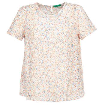 Textil Ženy Halenky / Blůzy Benetton  Bílá / Vícebarevná