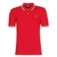 Textil Muži Polo s krátkými rukávy Benetton GUERY Červená