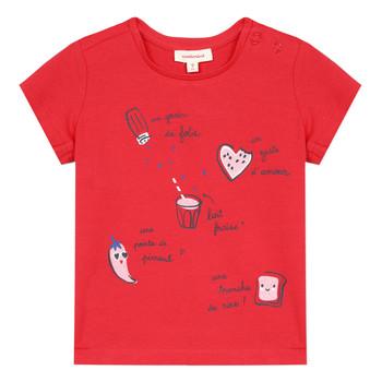 Textil Dívčí Trička s krátkým rukávem Catimini MUSIKOU Červená