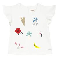 Textil Dívčí Trička s krátkým rukávem Catimini NADEGE Bílá