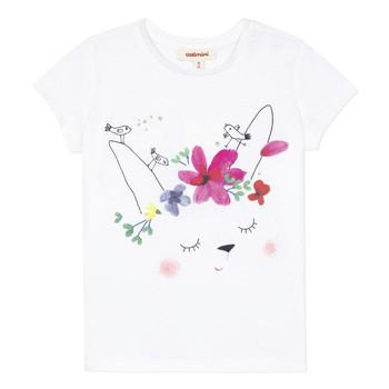 Textil Dívčí Trička s krátkým rukávem Catimini MAE Bílá