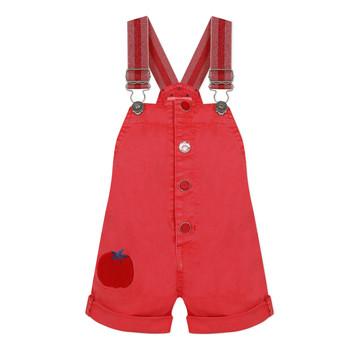 Textil Dívčí Overaly / Kalhoty s laclem Catimini SIBYLLE Červená