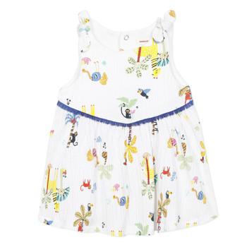 Textil Dívčí Krátké šaty Catimini BIXENTE Bílá