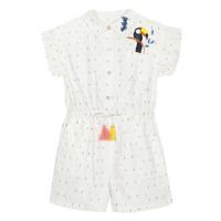 Textil Dívčí Overaly / Kalhoty s laclem Catimini LUCIUS Bílá