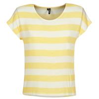 Textil Ženy Trička s krátkým rukávem Vero Moda  Žlutá / Bílá
