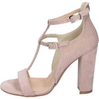 Boty Ženy Sandály Olga Rubini sandali camoscio sintetico borchie Rosa
