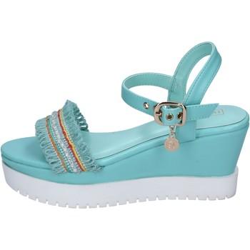 Boty Ženy Sandály Enrico Coveri sandali pelle sintetica tessuto Blu