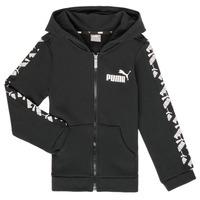 Textil Chlapecké Mikiny Puma AMPLI HOOD JKT Černá