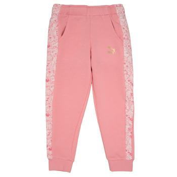 Textil Dívčí Teplákové kalhoty Puma MONSTER SWEAT PANT GIRL Růžová