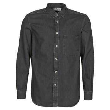 Textil Muži Košile s dlouhymi rukávy Diesel D-BER-P Černá