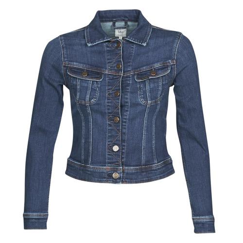 Textil Ženy Riflové bundy Lee SLIM RIDER JACKET Modrá / Tmavě modrá
