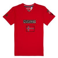 Textil Chlapecké Trička s krátkým rukávem Geographical Norway JIRI Červená