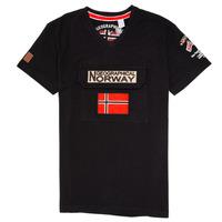 Textil Chlapecké Trička s krátkým rukávem Geographical Norway JIRI Černá