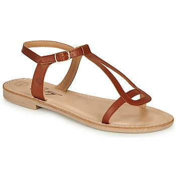 Boty Ženy Sandály Betty London MISSINE Zlatohnědá
