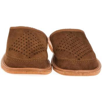 Boty Muži Papuče John-C Pánske hnedé papuče MORTI hnedá