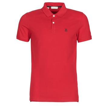 Textil Muži Polo s krátkými rukávy Selected SLHARO Červená