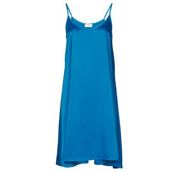 Textil Ženy Krátké šaty Moony Mood FANETTI Modrá