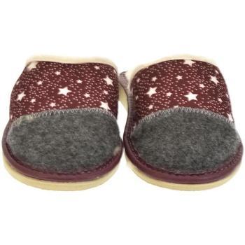 Boty Ženy Papuče John-C Dámske bordové papuče ELINA bordová