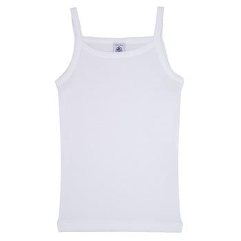 Textil Dívčí Tílka / Trička bez rukávů  Petit Bateau 53295 Bílá
