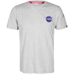 Textil Trička s krátkým rukávem Alpha NASA Space Shuttle Tee Šedá