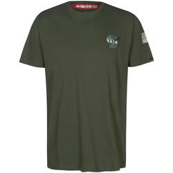 Textil Trička s krátkým rukávem Alpha NASA Space Shuttle Tee Zelená