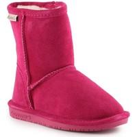 Boty Dívčí Zimní boty Bearpaw Emma Toddler Zipper 608TZ-671 Pom Berry pink