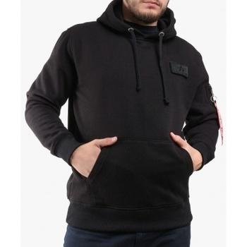 Textil Muži Mikiny Alpha Red Stripe Hoodie černá
