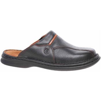 Boty Muži Pantofle Josef Seibel Pánské pantofle  10999 26611 schwarz-cognac Černá