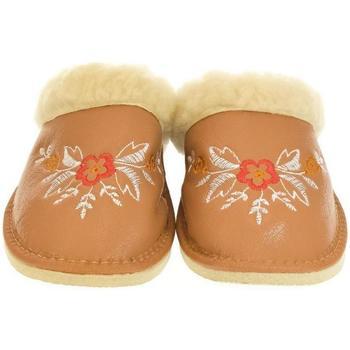 Boty Ženy Papuče John-C Dámske hnedé papuče REA ťavia
