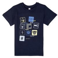 Textil Chlapecké Trička s krátkým rukávem Esprit ENZIEO Tmavě modrá